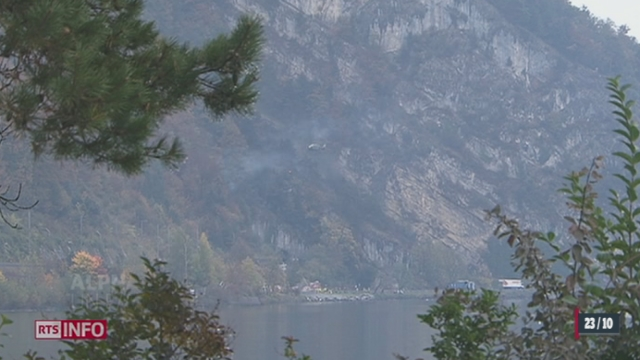 Un avion de l'armée suisse s'est écrasé près d'Alpnach (OW) [RTS]