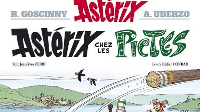 Astérix chez les Pictes - 2013 - Pour ce premier album totalement remis en d'autres mains (en l'occurrence Jean-Yves Ferri pour le scénario et Didier Conrad pour les dessins), les auteurs ont voulu revenir aux histoires des années 1970, avec la rencontre d'un nouveau peuple, les Pictes (en Ecosse).