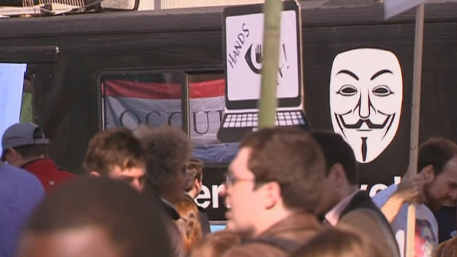 Manifestation contre la NSA à Washington [RTS]