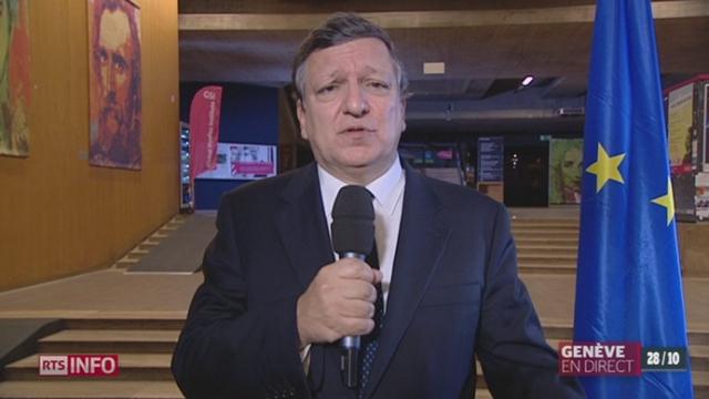 Réseau d'espionnage de la NSA: les précisions de José Manuel Barroso, président de la Commission européenne [RTS]