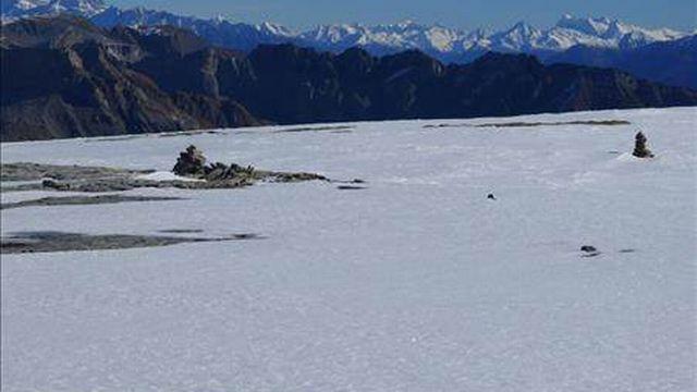 Le glacier de Tsanfleuron.