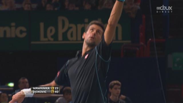 1-4, Djokovic - Wawrinka (6-1): le Vaudois n'a finalement pas voix au chapitre dans cette 1ère manche [RTS]