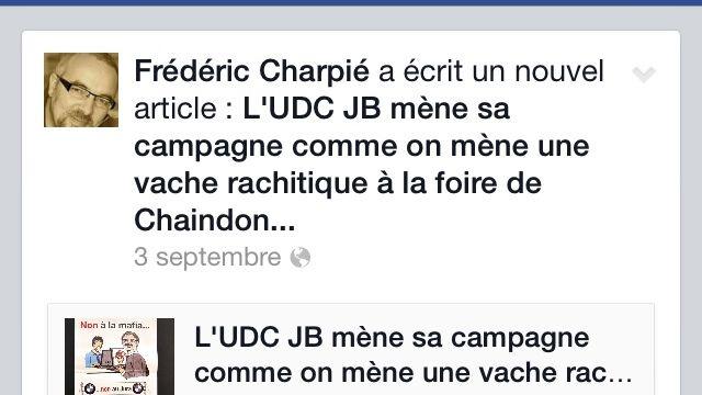 Capture d'écran du profil Facebook de Fréderic Charpié. [Facebook]