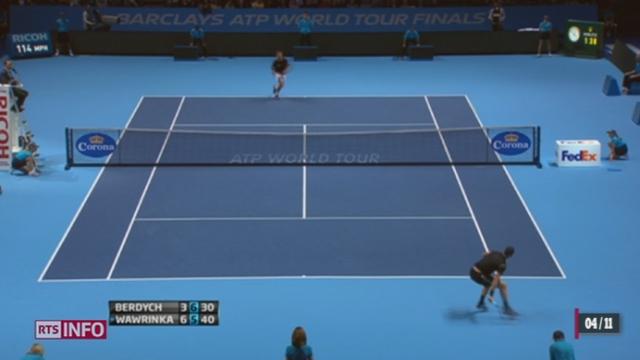 Tennis - Masters de Londres: Stanislas Wawrinka a battu Tomas Berdych [RTS]