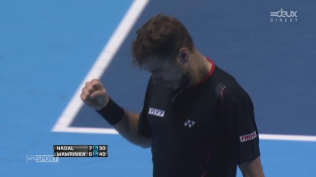 Nadal - Wawrinka (7-6, 6-5, 30-40): Wawrinka fait courir Nadal pour décrocher le tie-break [RTS]