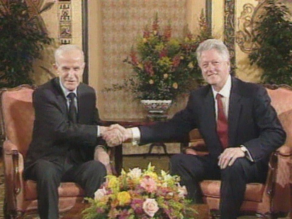A Genève en 2000, le sommet Assad Clinton échoue. [RTS]