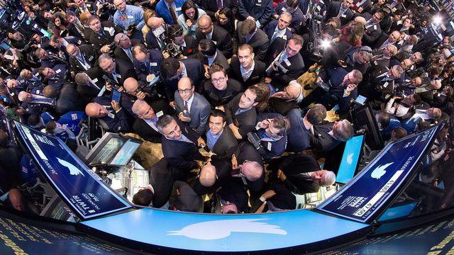 L'introduction de Twitter a suscité un profond engouement à la Bourse de New York. [EPA/NYSE - Keystone]