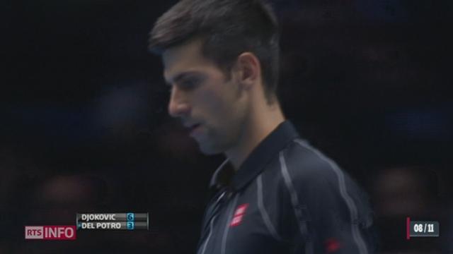 Tennis - Masters de Londres: Novak Djokovich a battu Juan Martin Del Potro [RTS]