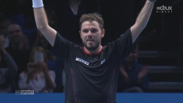Ferrer - Wawrinka  (7-6 4-6 1-5 30-40). Première balle de match pour Stanislas Wawrinka [RTS]