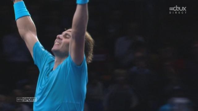 Round Robin (gr. A). Rafael Nadal (ESP) - Tomas Berdych (TCH) (6-4 1-6 6-3). L'Espagnol se reprend et l'emporte. Wawrinka est ainsi qualifié pour les demi-finales! [RTS]