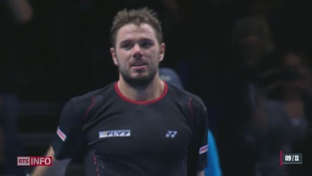 Tennis - Masters de Londres: Stanislas Wavrinka accède aux demi-finales du tournoi [RTS]