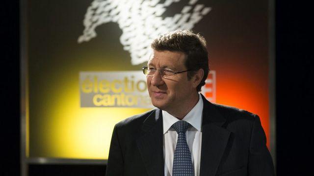 Mauro Poggia fait son entrée au gouvernement genevois. [Jean-Christophe Bott - Keystone]