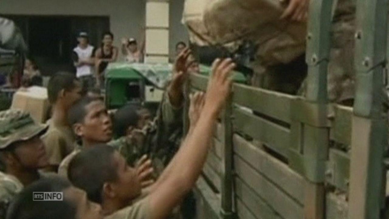 Difficiles opérations de secours aux Philippines [RTS]