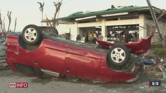 Le typhon Haiyan poursuit sa course [RTS]