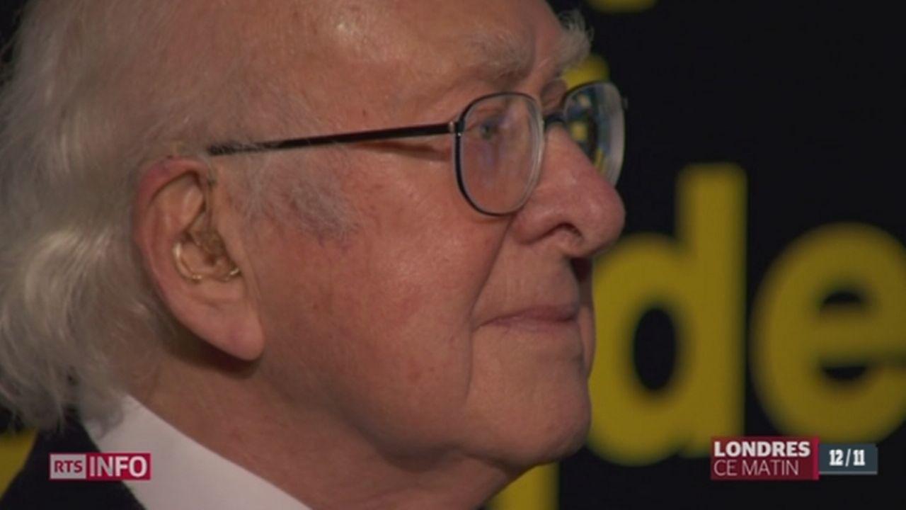 Le père du boson de Higgs a fait une apparition exceptionnelle à Londres [RTS]