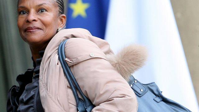 Christiane Taubira est depuis quelques semaines la cible d'insultes ouvertement racistes. [LUCAS DOLEGA]