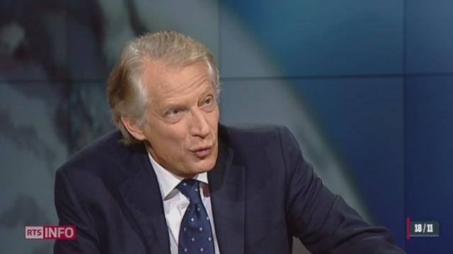 Dominique de Villepin s'exprime sur le climat politique français [RTS]