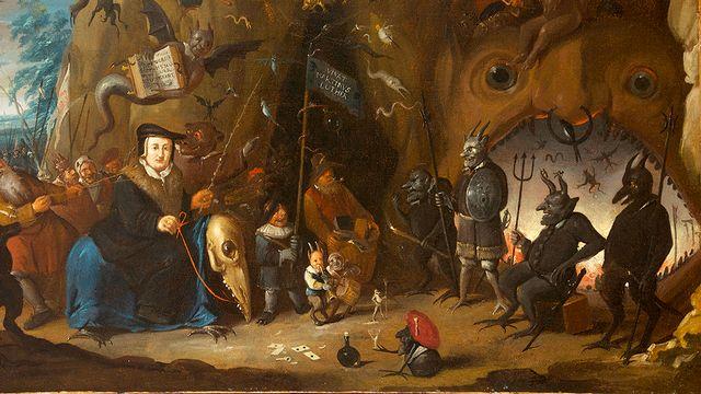 Egbert II van Heemskerck, Luther en enfer, huile sur toile, 1700-1710, à découvrir au Musée International de la Réforme à Genève. [Musée international de la Réforme]