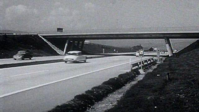 L'autoroute A1 en 1964. [RTS]