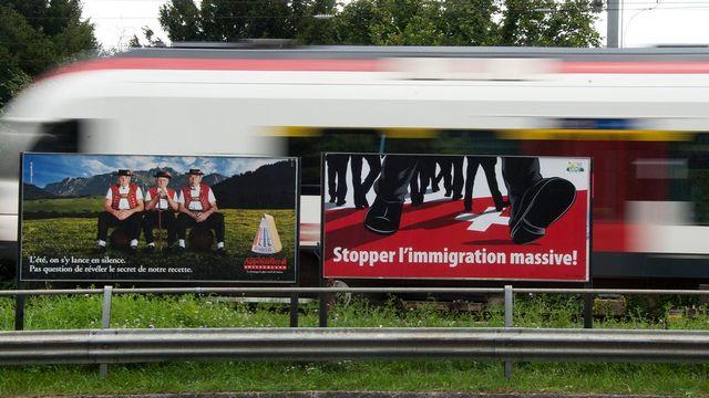 Economiesuisse lance sa campagne contre l'initiative sur l'immigration [Dominic Favre - Keystone]