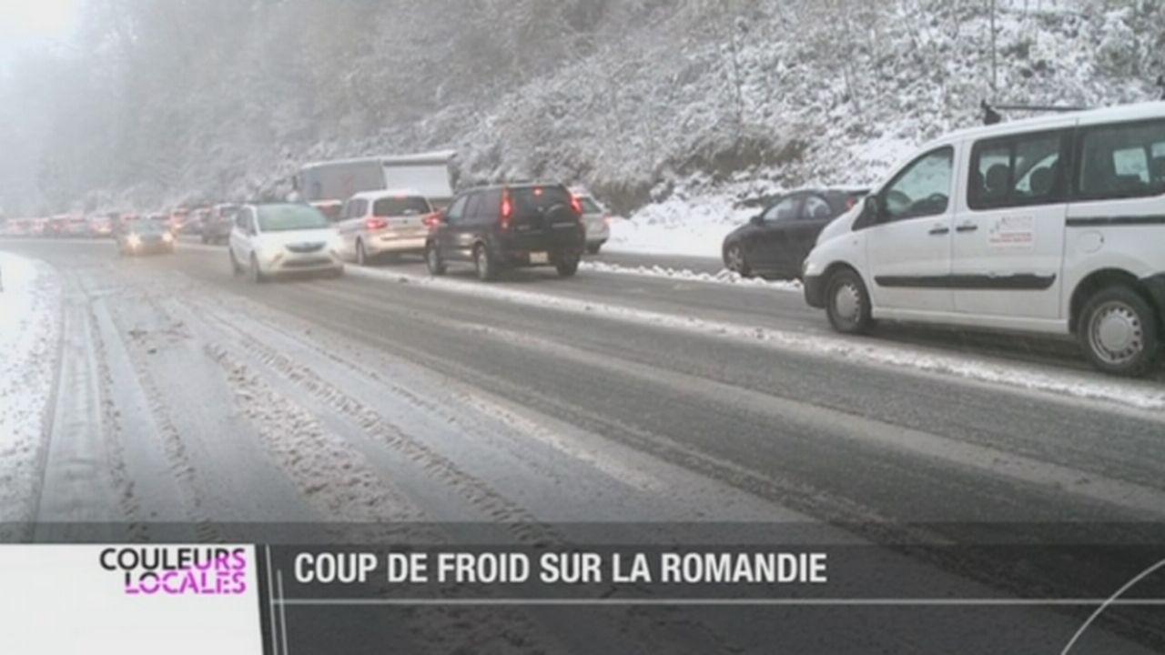 La neige a fait son apparition sans bruit, mais parfois avec fracas [RTS]
