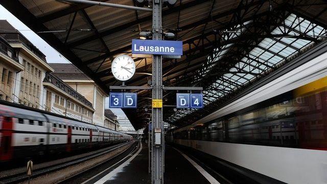 La gare de Lausanne bénéficiera des nouveaux investissements pour le rail. [Dominique Favre - Keystone]
