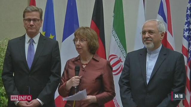 Nucléaire iranien: les grandes puissances et la République islamique ont trouvé un accord à Genève [RTS]