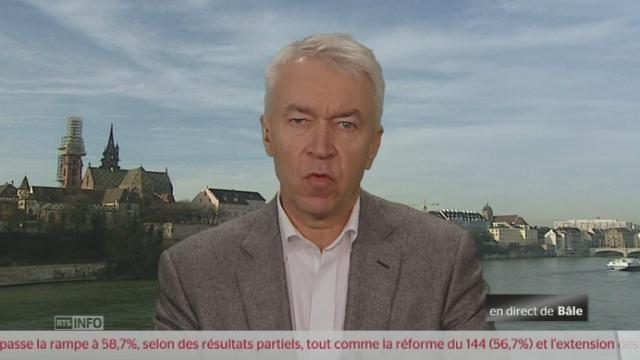 1.12 Le soulagement de Bernard Rüeger d'Economiesuisse [RTS]
