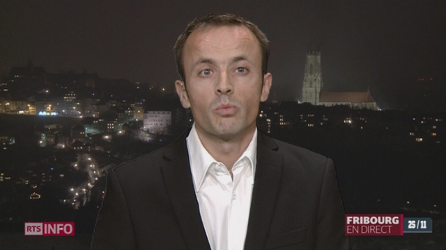 Restructuration de l'armée: Nicolas Beer, en direct de Fribourg [RTS]