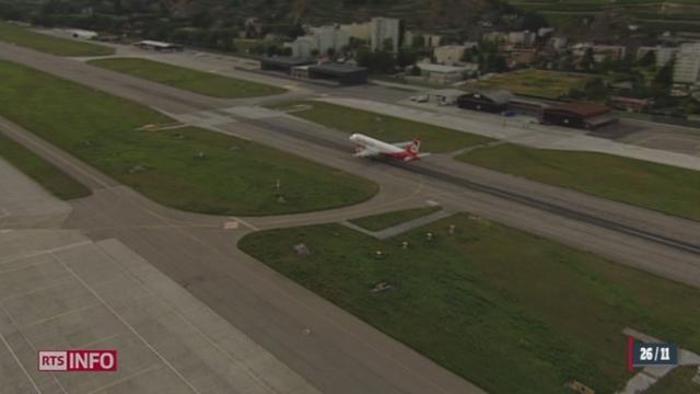 Sion - Aérodrome militaire: l'aéroport civil est aussi en péril [RTS]