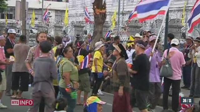 Thaïlande: des milliers d'opposants au gouvernement manifestent [RTS]