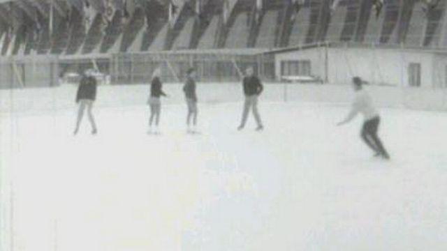 La patinoire des Vernets à Genève en 1962. [RTS]