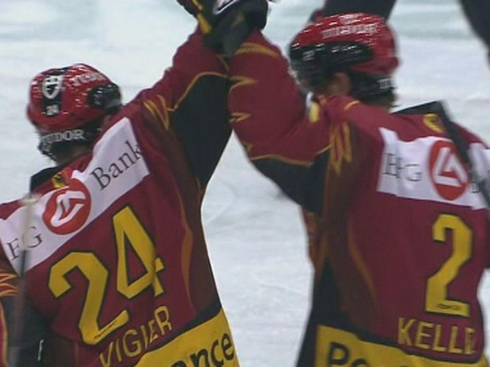 Genève Servette HC qualifié pour la finale des play-offs en 2008. [RTS]