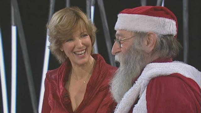 Manuelle Pernoud teste les pères Noël. [TSR 2009]