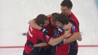 Finales messieurs Suisse- Norvège (8:6): les suisses sont champions d'Europe! [RTS]