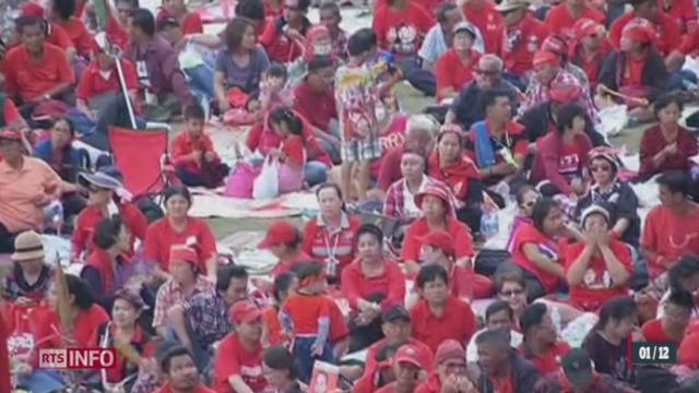 Thaïlande: un coup d'état populaire a été lancé par l'opposition thaïlandaise [RTS]