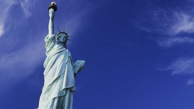 La Statue de la Liberté, oeuvre du sculpteur Bartholdi. [Jonathan - Photononstop / AFP]