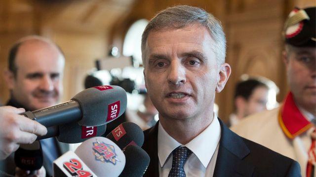 Didier Burkhalter a été élu à la présidence de la Confédération pour l'année 2014. [Lukas Lehmann - Keystone]