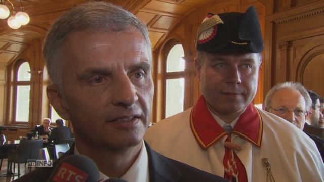Interview du futur président Didier Burkhalter [RTS]