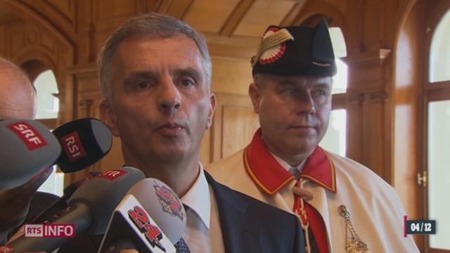 Didier Burkhalter est le nouveau président de la Confédération [RTS]