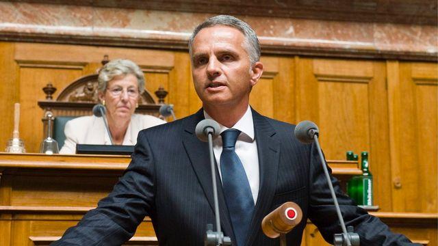 Le conseiller fédéral Didier Burkhalter sera le président de la Confédération en 2014. [Peter Schneider - Keystone]
