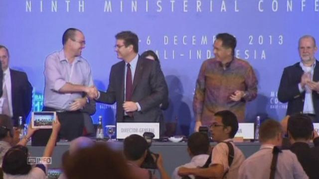 Accord historique signé par l'OMC à Bali [RTS]