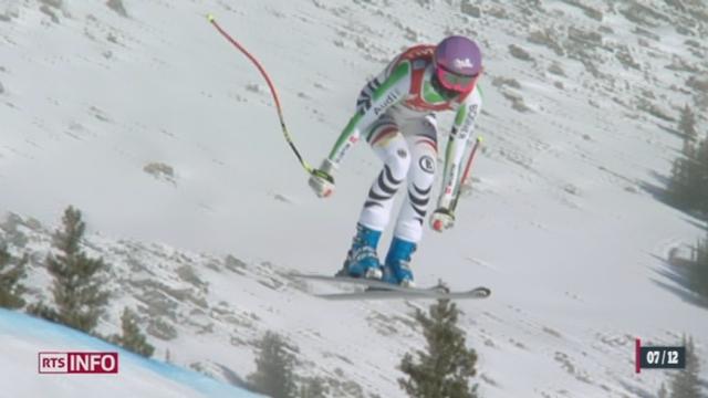Ski alpin: Marianne Kaufmann-Abderhalden s'est classée deuxième en descente à Lake Louise [RTS]