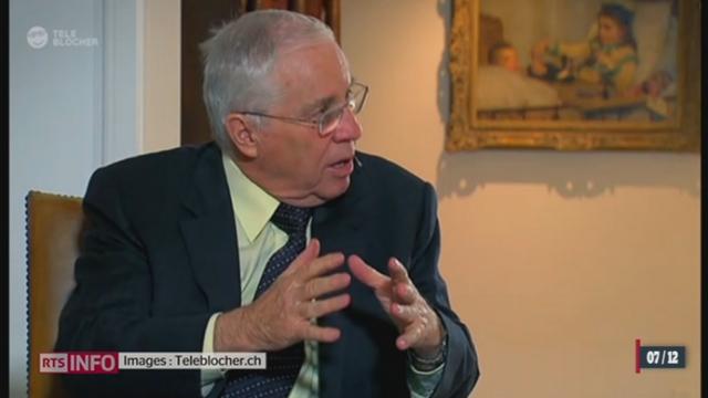 Christoph Blocher estime que l'image de Nelson Mandela est largement surestimée [RTS]