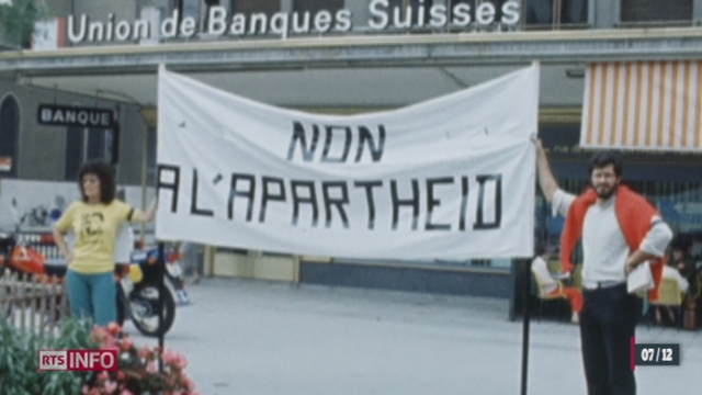 La mort de Nelson Mandela ravive un chapitre peu glorieux de l'histoire suisse [RTS]