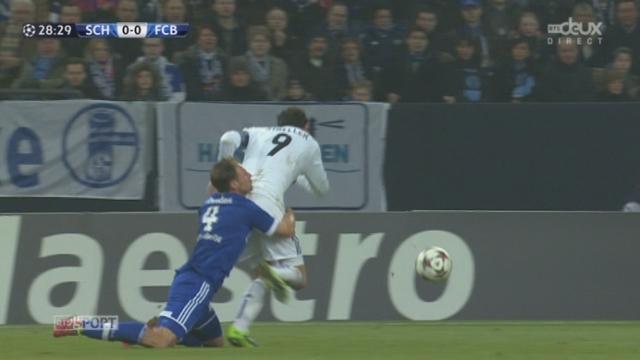 Schalke 04 - FC Bâle (0-0): jaune pour Howedes et rouge pour Ivanov [RTS]