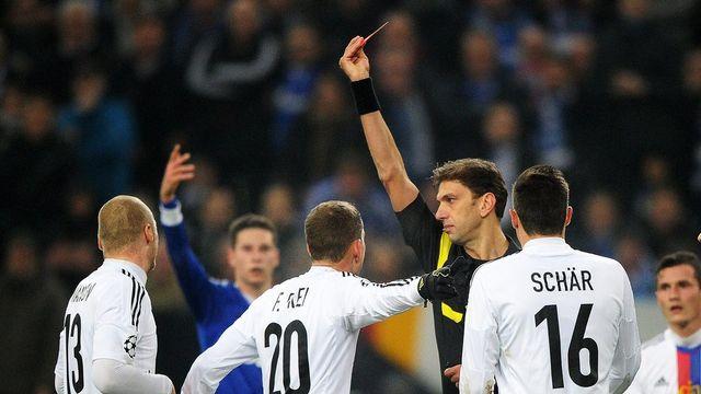 Le FC Bâle a été éliminé de la Ligue des Champions à Gelsenkirchen. [Jonas Guettler - EPA/Keystone]