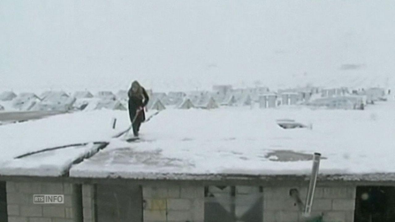 Tempête de neige sur le Moyen-Orient [RTS]
