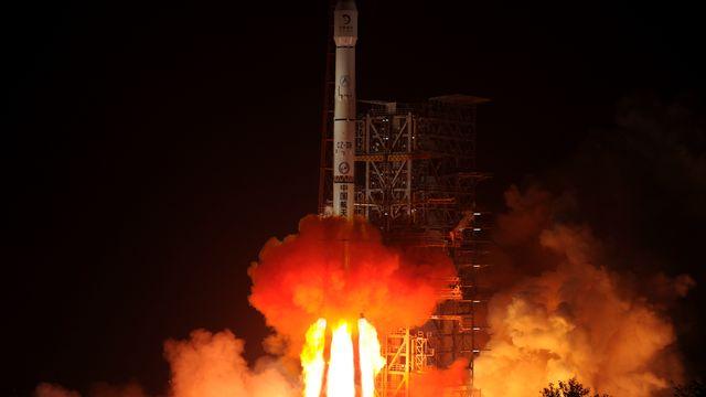 Départ de la Chine pour la conquête lunaire. [STR/AFP]