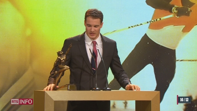 Swiss Awards: le sportif suisse 2013 s'appelle Dario Cologna [RTS]